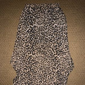 H&M Leopard High Low Skirt NWT